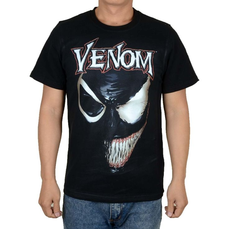 ==> [Free Shipping] Buy Best Free shipping Venom Edward Eddie Brock Spider-Man superman Marvel Comics Movie cartoon Retro VIntage 100% cotton T Shirt Online with LOWEST Price | 32760100851