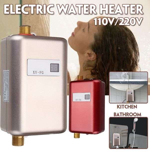 Tool Chest Instant Tankless Water Heater 110v 220v 3 8kw Temperature Display Heating Shower Tankless Hot Water Heater Tankless Water Heater Hot Water Heater
