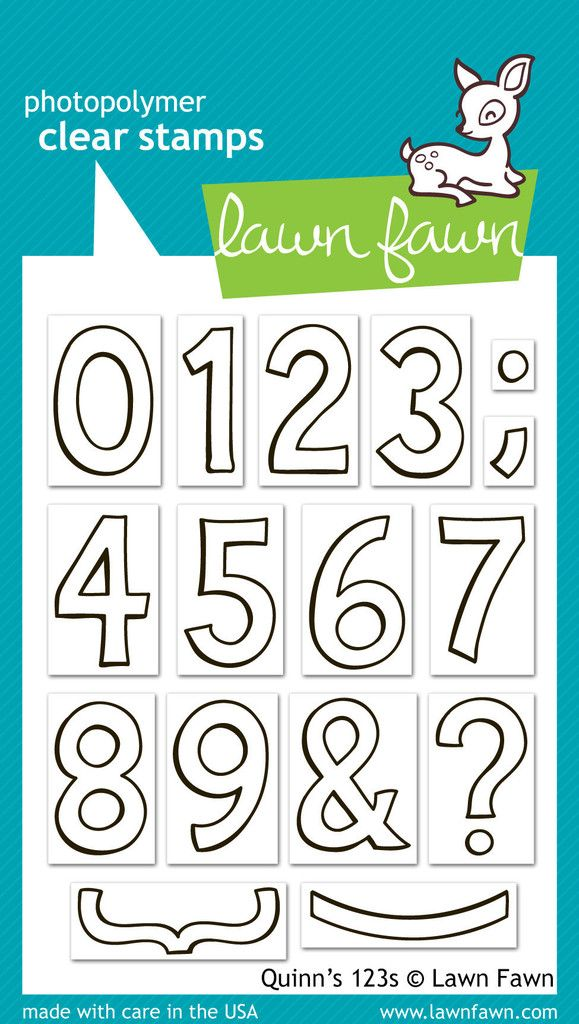 Lawn Fawn - Stamps - Quinn's 123s