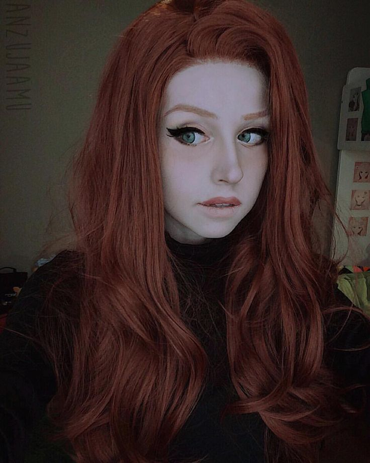 "So what's the sitch?  Kim Possible inspired look with my new lace front wig from @wigisfashion ! You can use the code ""anzujaamu"" for a discount! ❤️ -- I know she's doing the makeup for the cosplay, but I *love* the whole look of just doing the upper lip for lipstick.. Anyone know what doing that is called??"