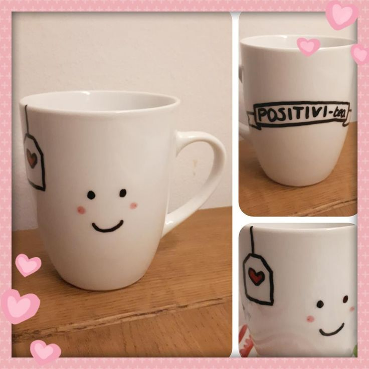POSITIVI-tea cup - Nice gift for my sweet friend - by Tilia