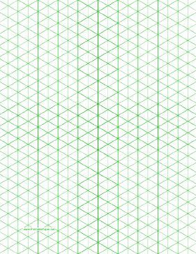 This letter-sized isometric graph paper has half-inch figures (triangles). Free to download and print - perfect for designing hexagons, triangles, cubes and all parts thereof!