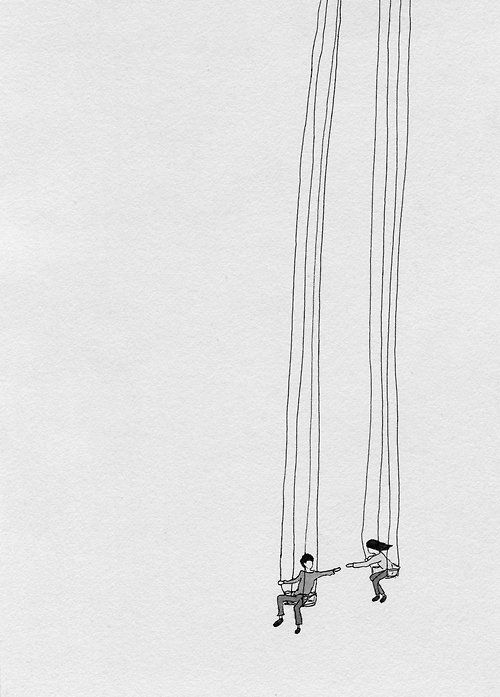 We were hanging over an endless drop, suspended by fragile, fraying ropes, unraveling faster than we could repair them. Then we met.