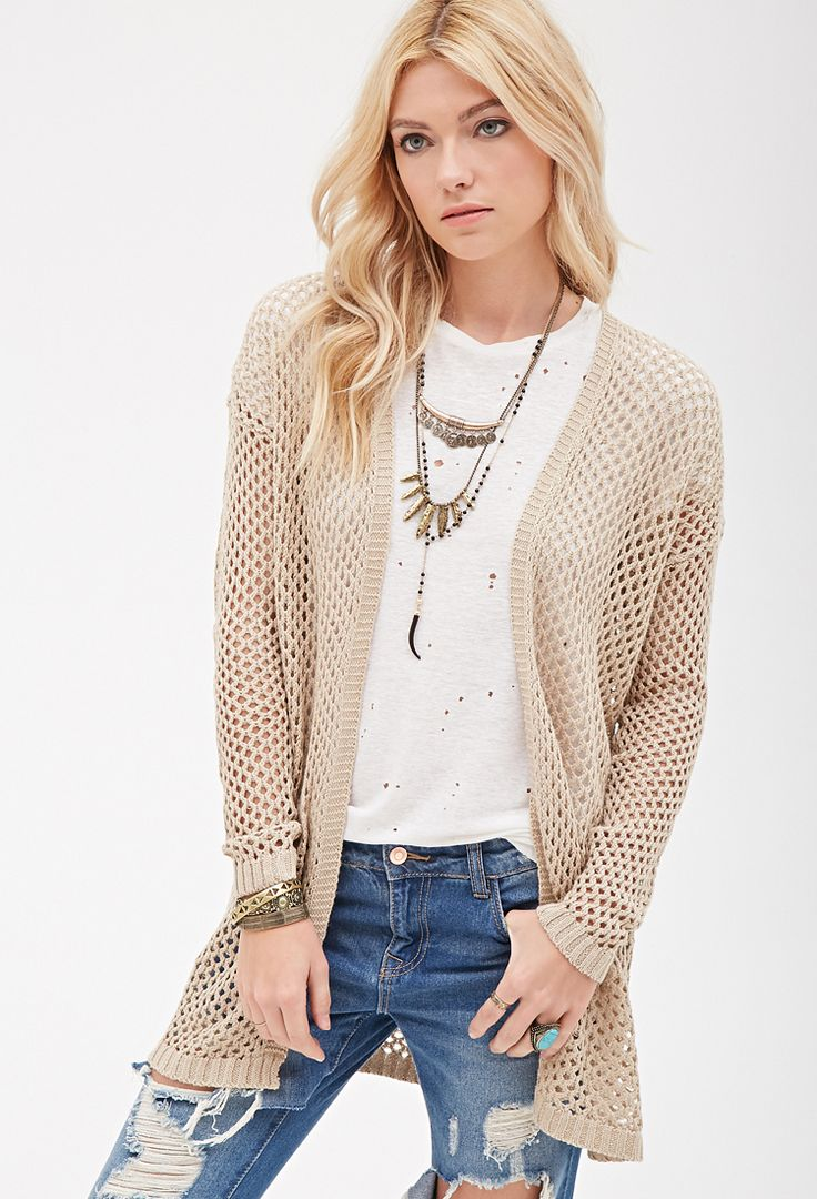 424 best all for women images on pinterest fashion branding a longline linen blend cardigan featuring an open knit pattern open front bankloansurffo Choice Image