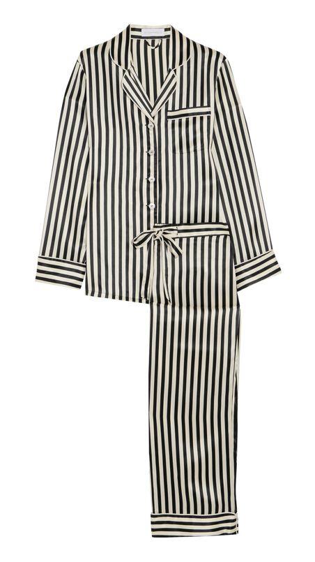 Striped Silk Pajamas