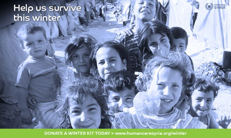 Help us survive this winter... Send a Winter Kit to Syria today: www.humancaresyria.org/winter #winter #syria #campaign #children #refugees