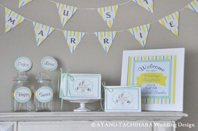 レモンストライプ by AYANO TACHIHARA Wedding Design