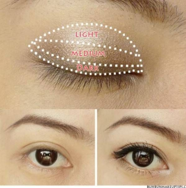 Cover up dark circles by applying concealer in a triangle shape. | 27 DIY Beauty Hacks Every Girl Should Know..#beauty