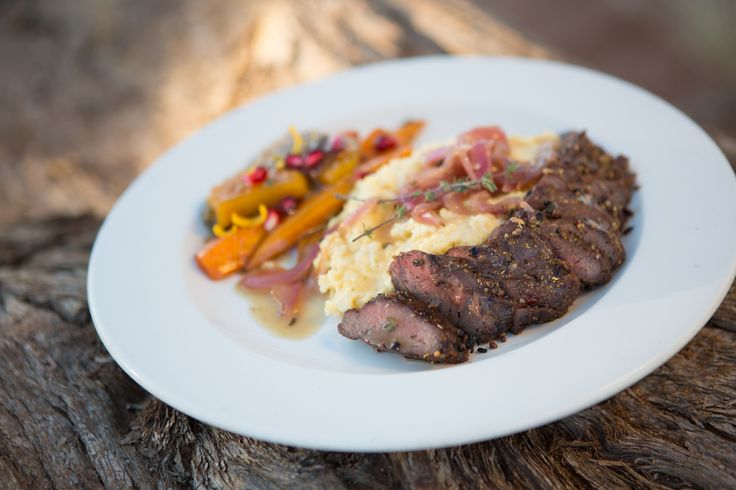 Grilled Springbok Fillet with Onion Marmalade Sauce
