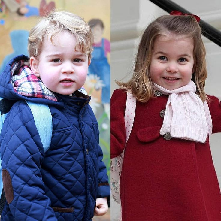 Prince George and Princess Charlotte on their first nursery day ❤ via ✨ @padgram ✨(http://dl.padgram.com)