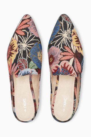 Гобеленовые туфли с открытой пяткой - Покупайте прямо на Next Украина