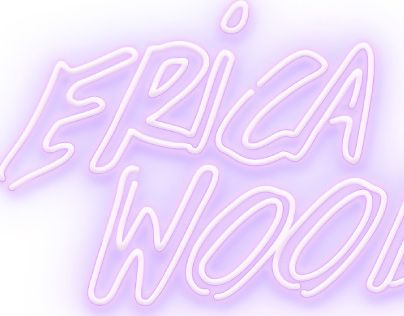 """Check out new work on my @Behance portfolio: """"Erica Woods Neon Logo"""" http://on.be.net/1VK4hVh"""