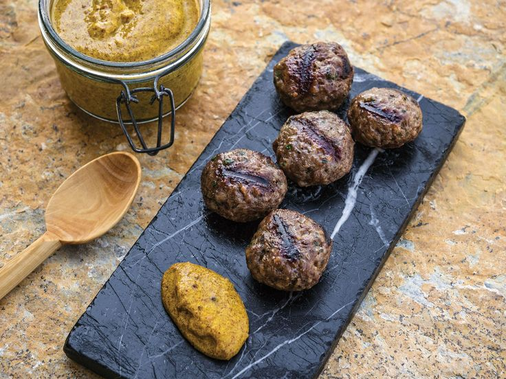 """Beef and Lamb Koftas with Mustard 