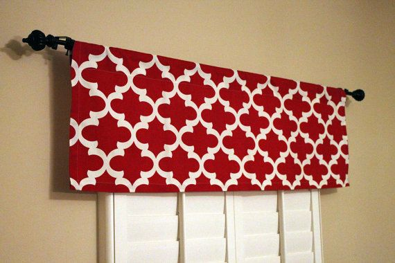 Hey, I found this really awesome Etsy listing at https://www.etsy.com/listing/191988207/red-window-valance-red-valance-kitchen
