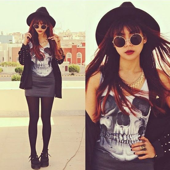 Vestidos no estilo glam rock