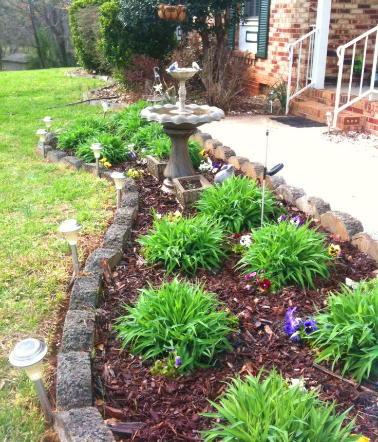 Home Garden Landscaping Ideas: 17 Best Ideas About Front Flower Beds On Pinterest