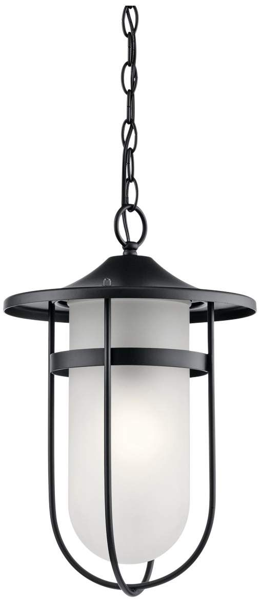 ... Kichler Finn 17 H Black Outdoor Hanging Light ...
