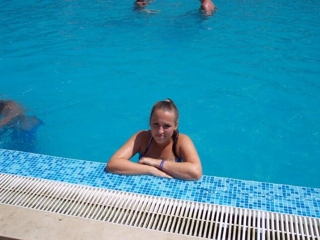 In the pool ~