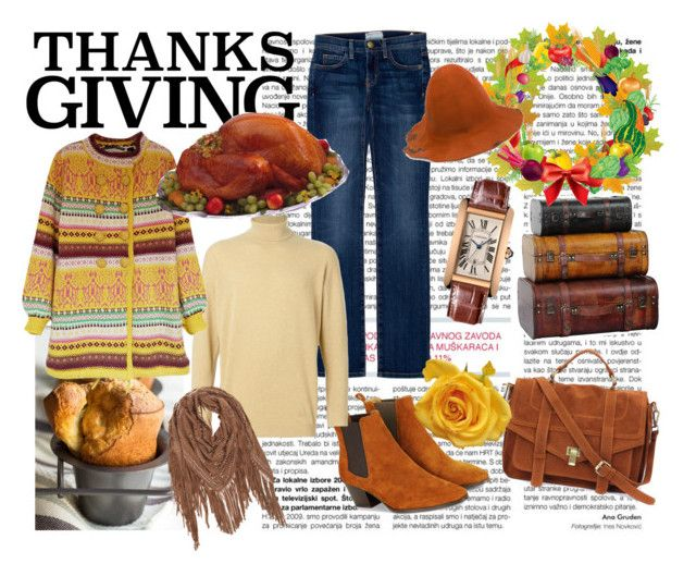 """Yellow Thanksgiving"" by ibuperi on Polyvore featuring Current/Elliott, Monsoon, Cartier, Burberry, Aleksandr Manamïs and thanksgiving"