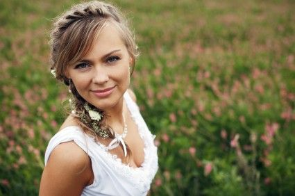 Coiffures de mariée avec tresses