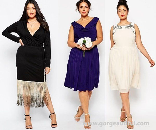 Plus Size Wedding Guest Dresses Fall Winter 2015 2016 Shopping Ideas
