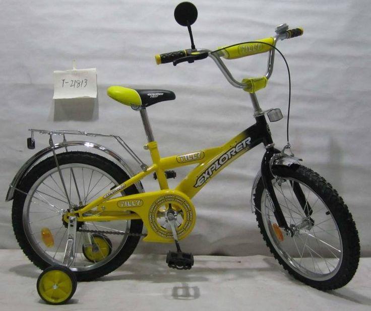 """Детский велосипед двухколесный TILLY EXPLORER 18"""" T-21813 yellow  Цена: 60 AFN  Артикул: T-21813  Велосипед T-21813 yellow - отличный детский городской велосипед, который способен подарить своему пользователю массу впечатлений от увлекательной прогулки  Подробнее о товаре на нашем сайте: https://prokids.pro/catalog/detskiy_transport/dvukhkolesnye_velosipedy/detskiy_velosiped_dvukhkolesnyy_tilly_explorer_18_t_21813_yellow/"""