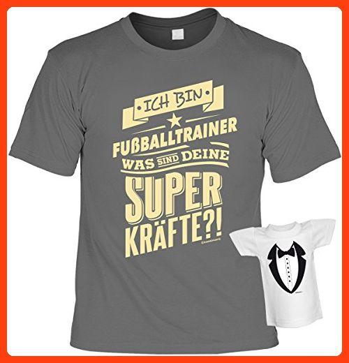 lustiges witziges T-Shirt Funshirt Leiberl mit Mini Shirt - Geburtstag Geschenk Geschenkidee Weihnachten Papa Freund Karneval Ich bin Fußballtrainer Gr: L (*Partner Link)