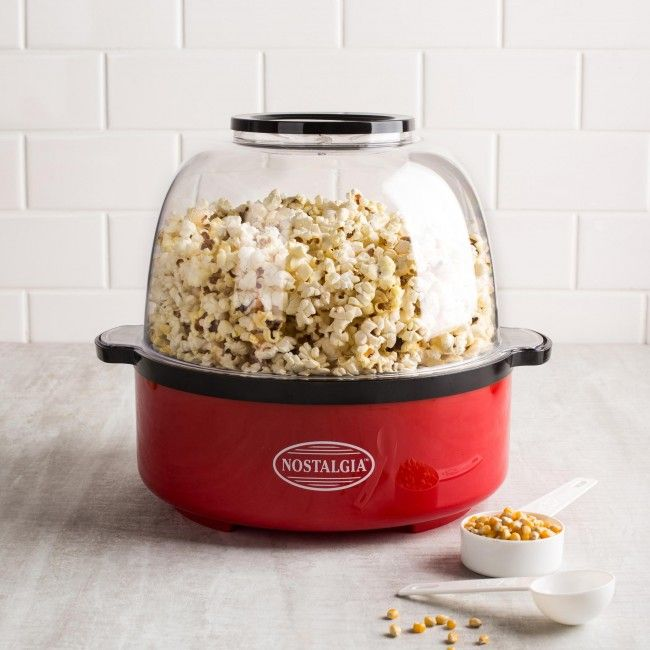 This unique popper is fun and easy to use! It's a popcorn maker and serving bowl in one! Simply add kernels and flip the switch. In about five minutes you'll have a bowl full of delicious popcorn.