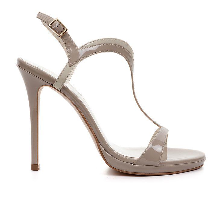 Code: 1008B08 Heel height: 10cm www.mourtzi.com #sandals #grey