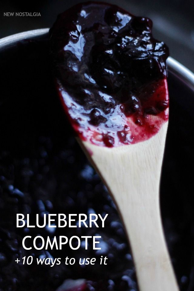 Blueberry Compote Recipe -- a healthy way to satisfy a sweet tooth & can be used in so many ways!