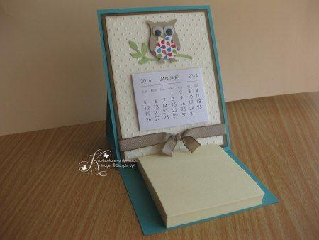 Easel Calendar & Post-it Card | Calendar ideas, Craft ...