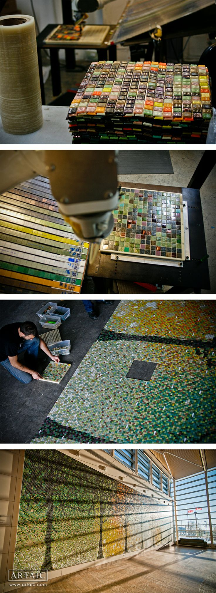19 best images about lobby reception on pinterest for Custom mosaic tile mural