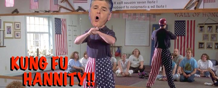 http://therightscoop.com/hannity-spurns-jesus-teachings-favor-martial-arts-angry-radio-rant-glenn-beck/