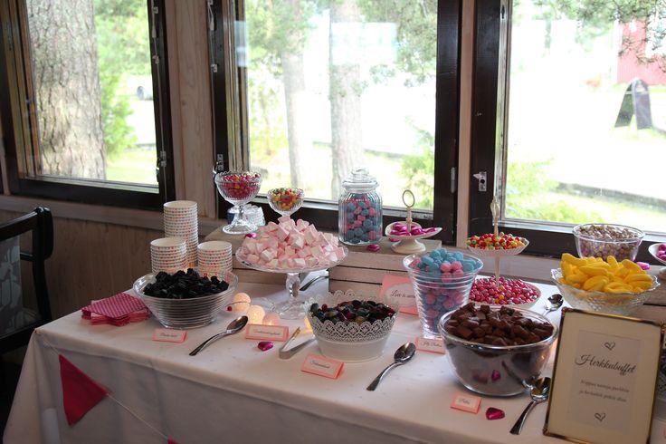 Herkkubuffet, kesähäät 2016, wedding, sweet buffet
