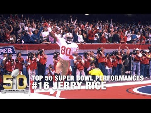 #16: Jerry Rice SB XXIV Highlights | 49ers vs. Broncos | Top 50 Super Bowl Performances - YouTube