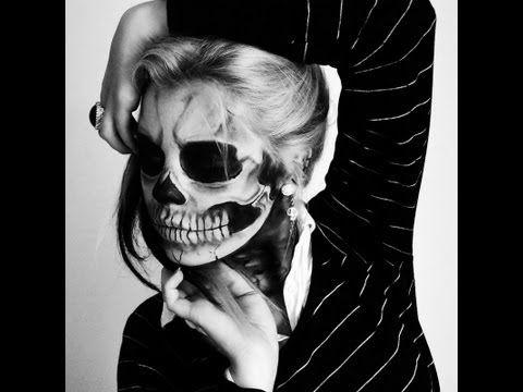 Maquillaje Halloween Esqueleto tutorial | Silvia Quiros - YouTube
