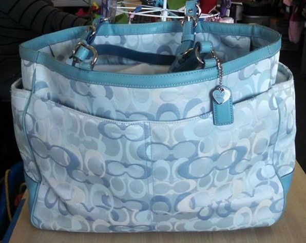 Coach Diaper Bag Blue Coach Diaper Bag Blue Bags Bags