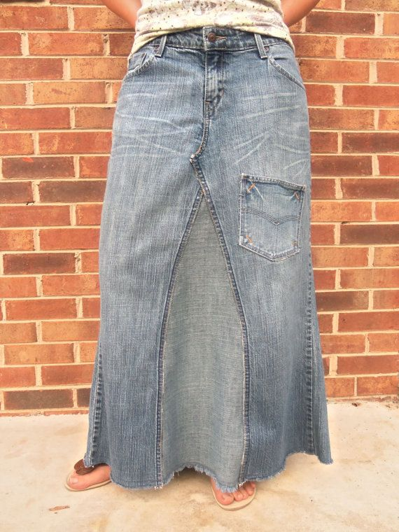 88 best Denim jean skirts images on Pinterest