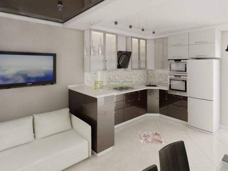 Картинки по запросу дизайн кухни 12 м с газовой колонкой холодильником и диваном