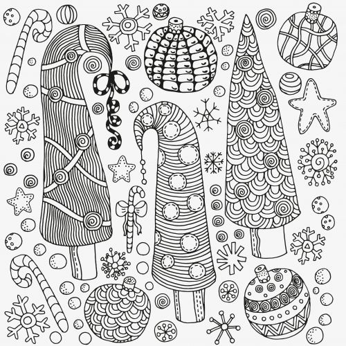 46 best advanced christmas coloring images on