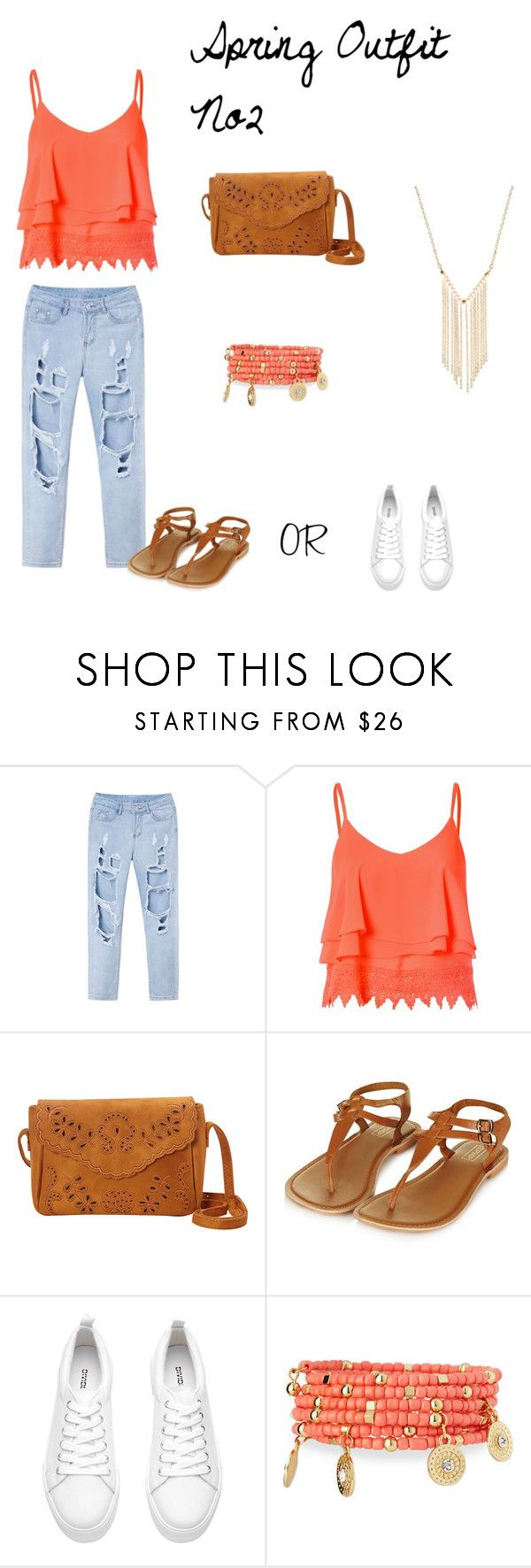Spring Outfit No2 by vas0an on Polyvore featuring Glamorous, Topshop, Emily & Ashley and Gemelli