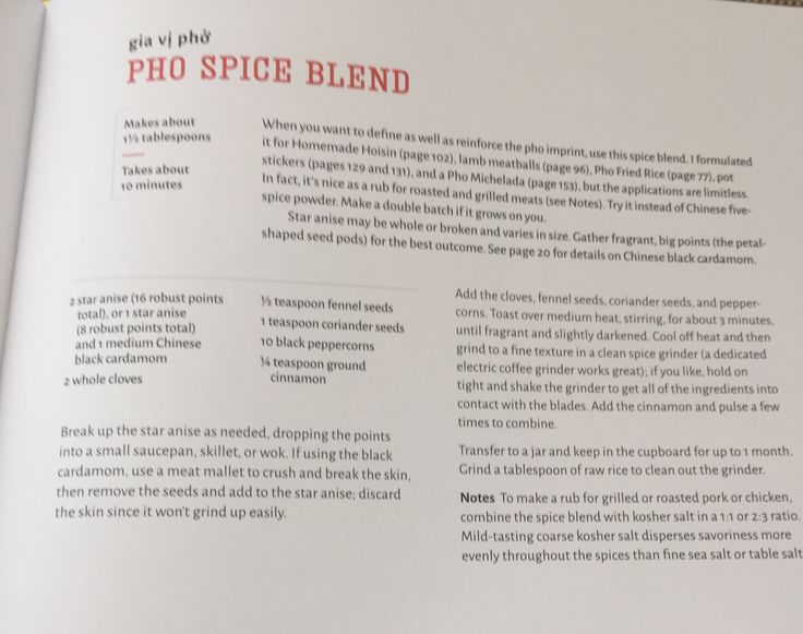 Pho spice blend