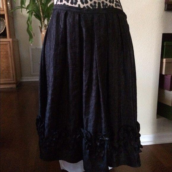Black shiny dressy Skirt Gorgeous Skirts Midi