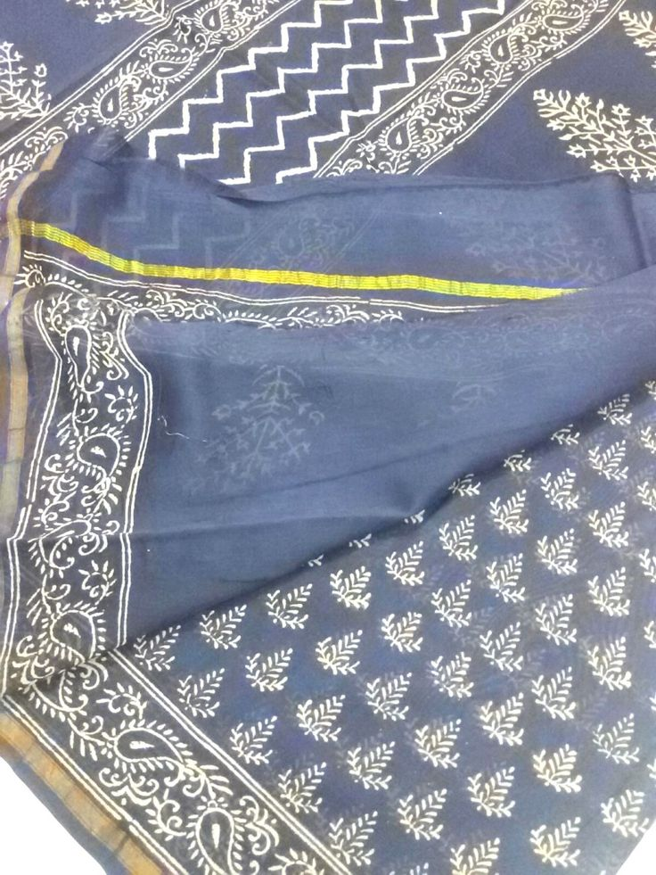 This Hand Block Printed Chanderi Saree is made of Mercerised Cotton weft and Silk warp. Length is approx. 6.25 meter, and width is approx 45 inches. At the time of listing this product, this item is available. In case this item is sold out from our physical store, the full refund will be initiated b