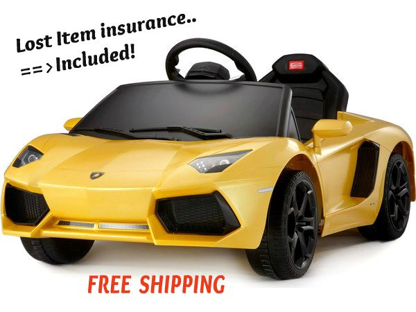 Yellow Lamborghini Ride On Toy Car Style For Kids Remote Control 6V Battery  Just for the selective few, the Lamborghini Ride On Toy Car is just as attractive as its grown-up variant. Comes standard with true identifications, LED lights, MP3 in...