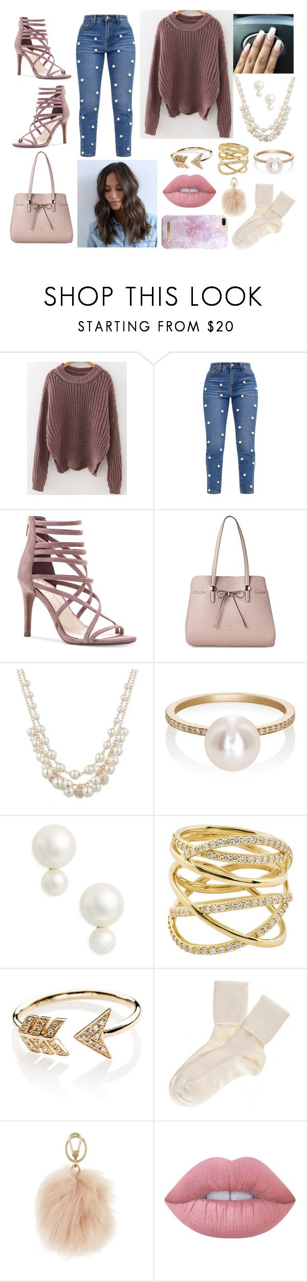 """Savannah"" by loveisablindwar on Polyvore featuring Jessica Simpson, Nanette Lepore, Anne Klein, Sophie Bille Brahe, Kate Spade, Lana, EF Collection, Black, Furla and Lime Crime"