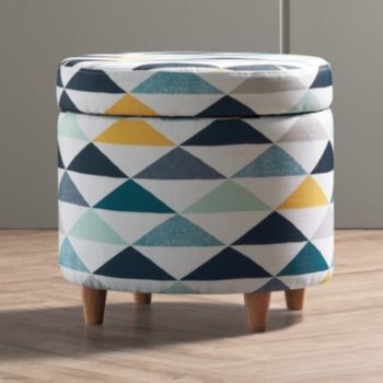 Apt. 9® Geometric Round Storage Ottoman, Blue (Navy). Round Storage  OttomanDorm RoomOffice ... Part 78