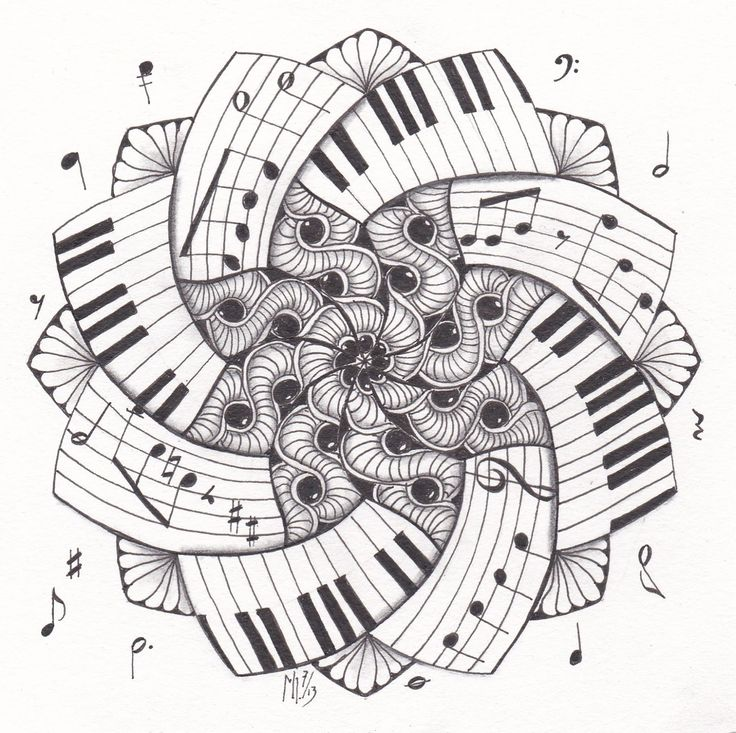 Piano Keys Coloring Pages
