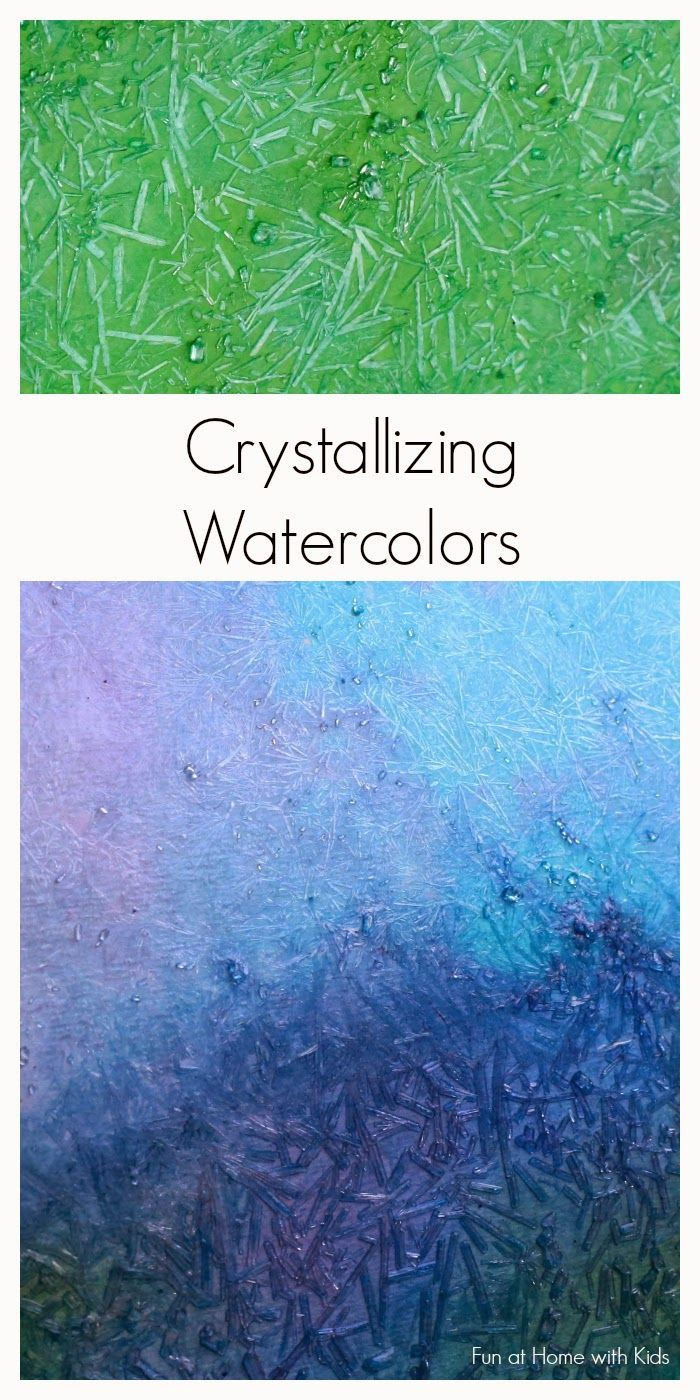 Gorgeous shimmery crystallizing paints that you can make with items found in a grocery store.  A new paint recipe from Fun at Home with Kids...