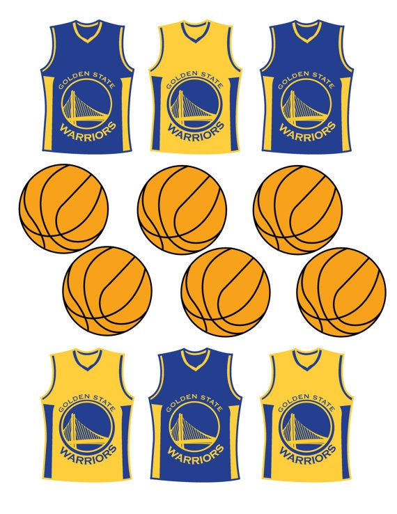 b65d6f1ad368 Etsy  Instant Download Golden State Warriors Cupcake by DecorAtYourDoor.
